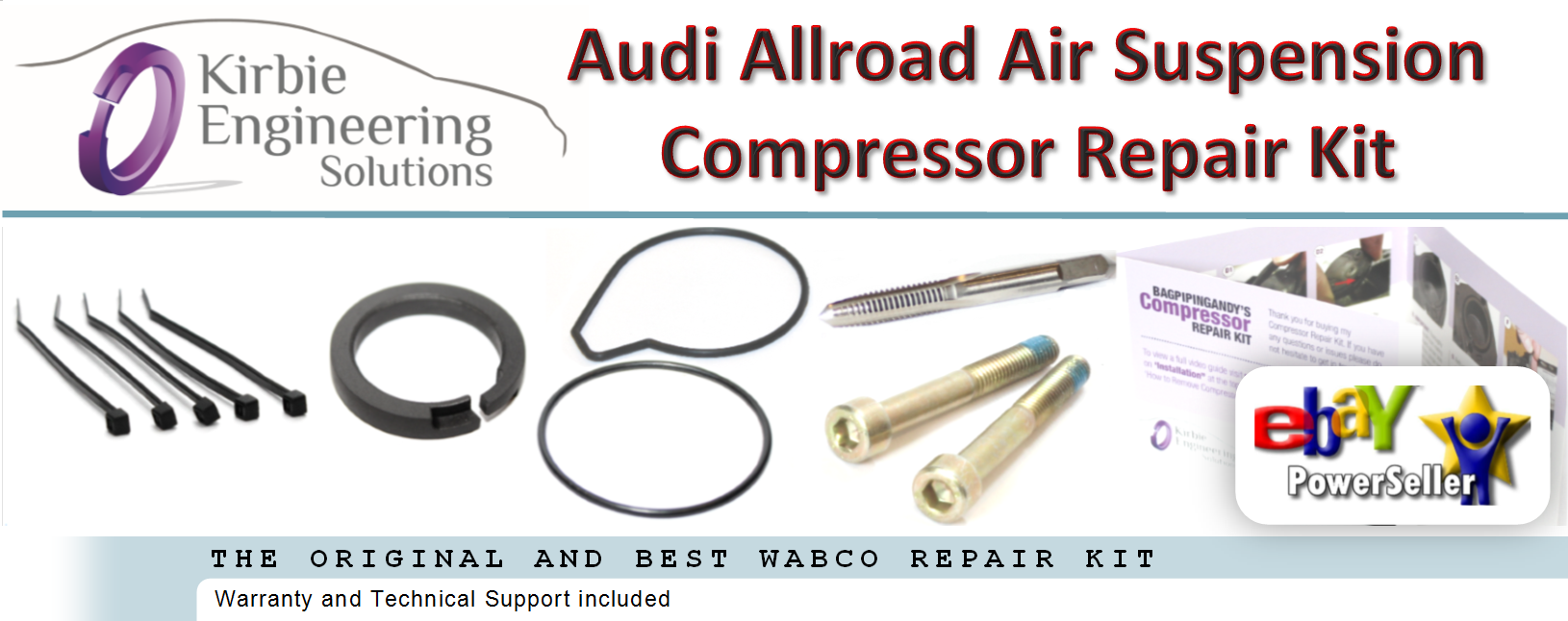 Details about Audi Allroad Air Suspension Compressor Repair Kit